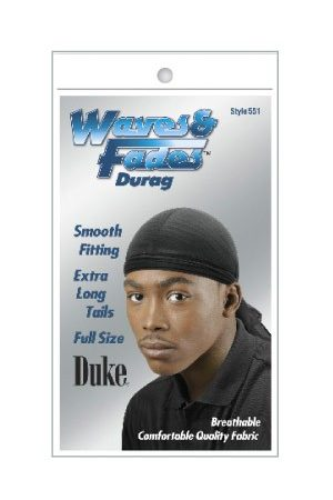 Duke Waves & Fades Durag-Black