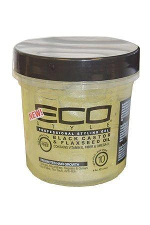 Eco Styler-Black Castor & Flaxseed Oil GeL(8oz)