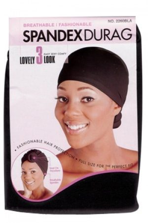 Spandex Lady Durag – Black