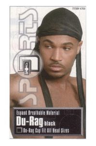 [Magic #4769] Expand Breathable Material Durag -dz Tie Down DuRag black