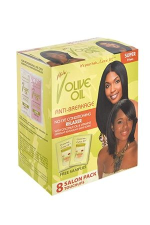 Vitale-Olive Oil No Lye Relaxer kit [8 touchups] -Super