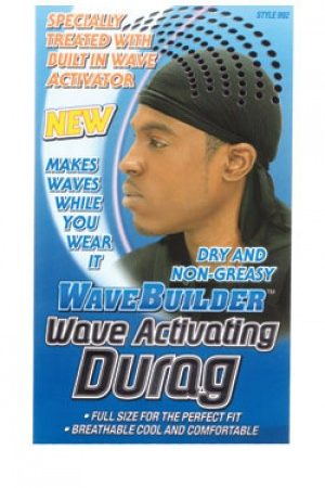 Wave Builder – Wave Activating Durag – Black