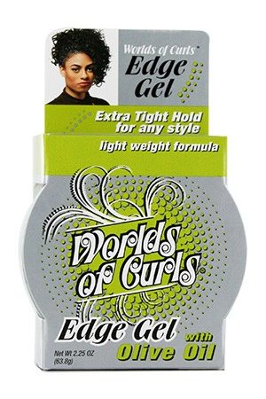 Worlds Of Curls-Edge Gel with Olive Oil (2.25 oz)