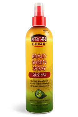 African Pride Braid Sheen Spray