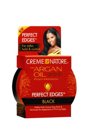 CREME of NATURE Argan Oil Perfect Color Edges[Black] (2.25oz)