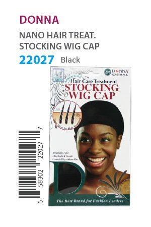 Donna Nano Hair Treat. Stocking Wig Cap Black