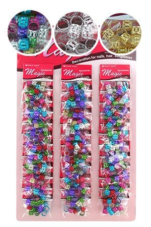 Hair & Nail Ring Bead -XL Assorted