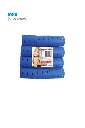 Magnetic Rollers 12pc (17mm-D.Blue)