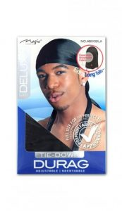 [Magic-#4800BLA] Expandable Deluxe Tie-Down DuRag -dz