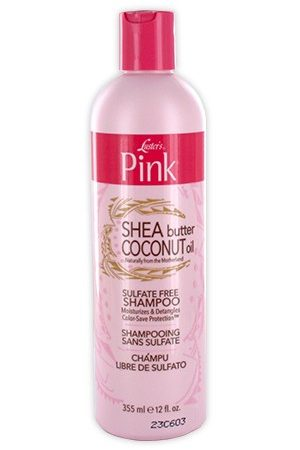 Pink-Shea Butter & Coconut Oil Sulfate Free Shampoo(12oz)