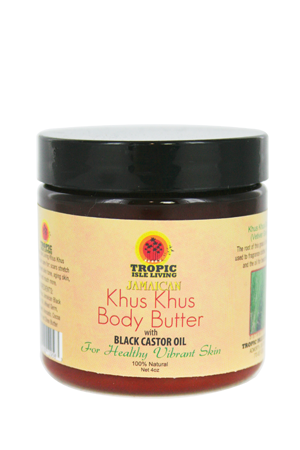Tropic Isle Living-Jamaican Black Khus Khus Body Butter (4oz)