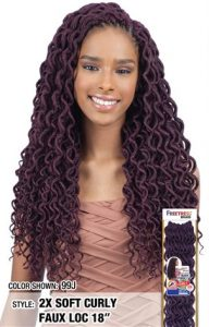 2X SOFT CURLY FAUX LOC 18 INCH