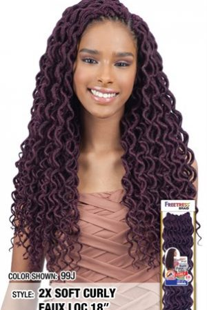2X Soft Curly Faux Loc 18″