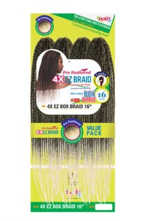 Janet Collection 4X EZ Box Braid 12″ 14″ & 16″