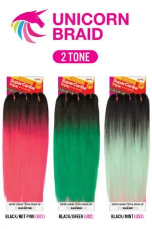 Janet Collection Super Caribe Triple Synthetic Hair Braid 48″ Braid 2 tone