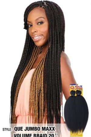 2x Que Jumbo Maxx Volume Braid 20 inch