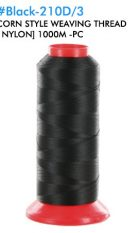 Black-210D-3 Corn Style NEW Weaving Thread [Nylon] 1000M