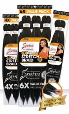 SENSUAL COLLECTION AFRO SENS 6X STRETCH SPETRA BRAID 52 INCH