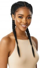 Outre Lace Front Wig swiss X Dutch Braid Lola Blow out straight