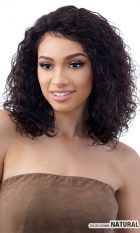 BRAZILLIAN NATURAL 100% HUMAN HAIR LACE PART WIG WET LOOK WAVES – AVERY