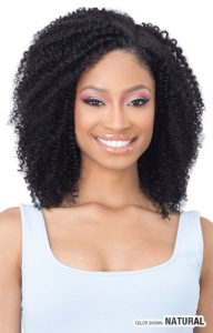 NAKED CLIP IN 9PCS 100% HUMAN HAIR COIL CURL 14 INCHES