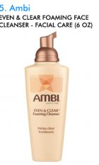 Ambi Even Clear Foaming Face Cleanser Facial Care 6oz